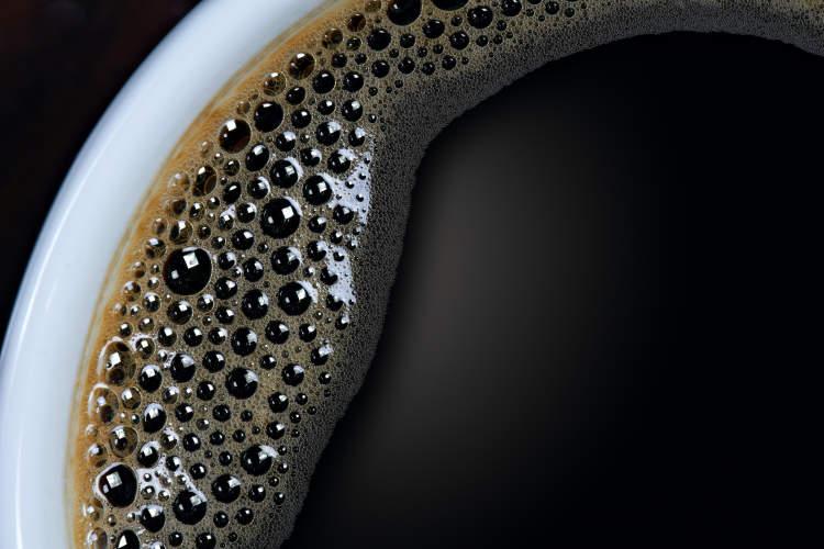 咖啡特写镜头