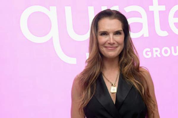 Brooke Shields attends Qurate Retail Group Reception on June 11, 2018 in New York City.