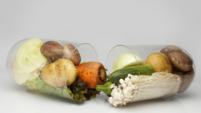 Prebiotics from food concept.