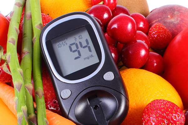 blood glucose meter with fruit image