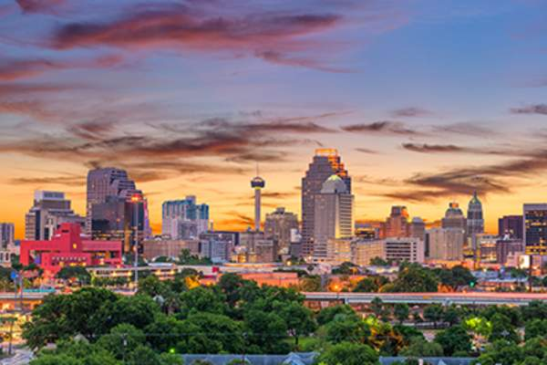San Antonio, Texas skyline.