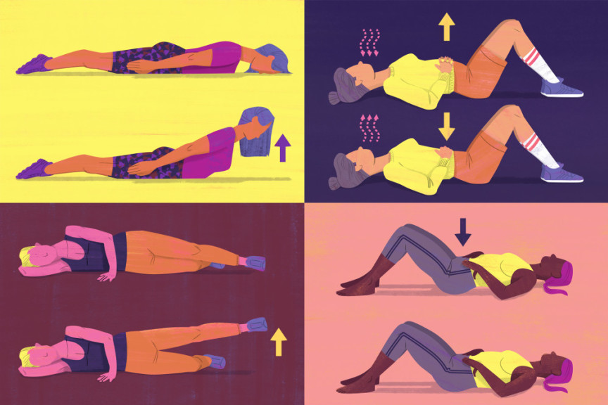 pilates moves collage