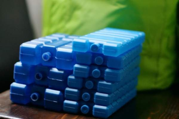 Stack of solid ice packs