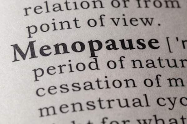 Menopause definition.