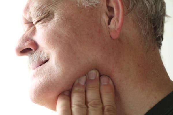 Man with jaw pain.