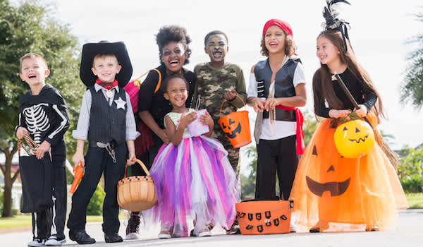 Children ready to trick-or-treat