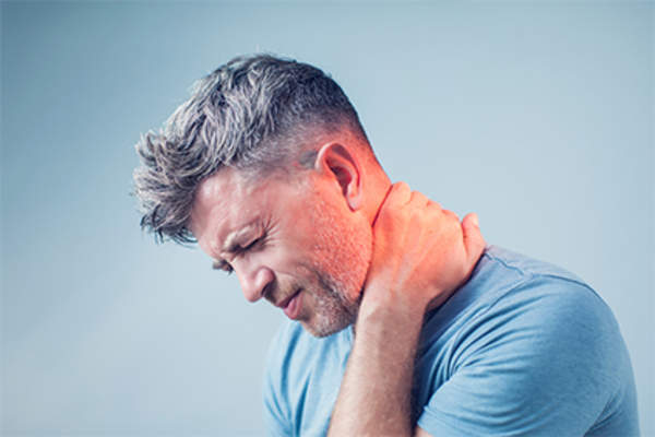 Man with neck pain.