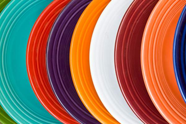 Colorful plates image.