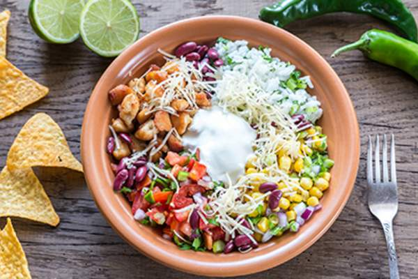 Chicken burrito bowl.