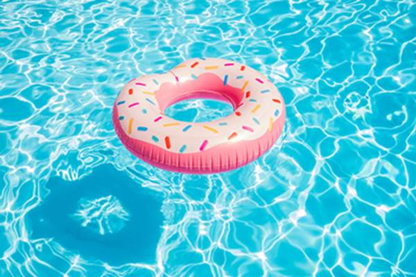 Doughnut pool float.