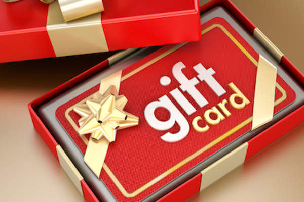 Gift card in box