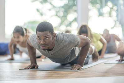Yoga classes easing the symptoms of crohn's related arthritis.