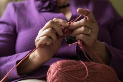 Knitting as a meditative activity.