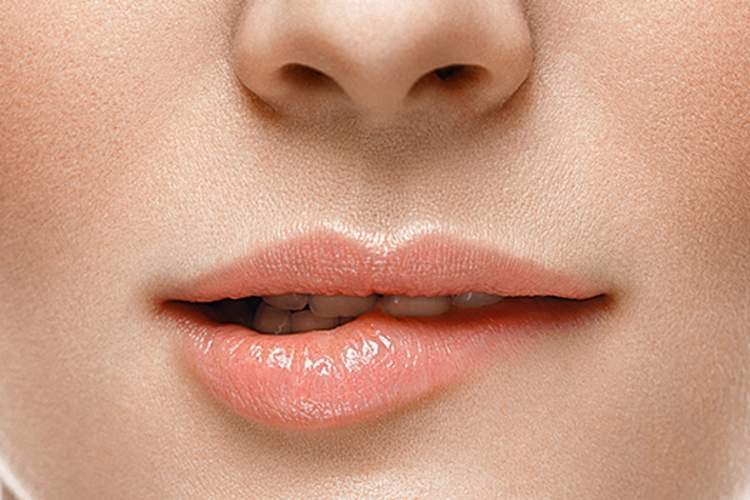young woman mouth image