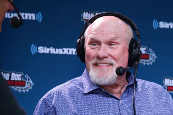 Former NFL player and NFL Hall of Fame player Terry Bradshaw attends SiriusXM at Super Bowl LII Radio Row at the Mall of America