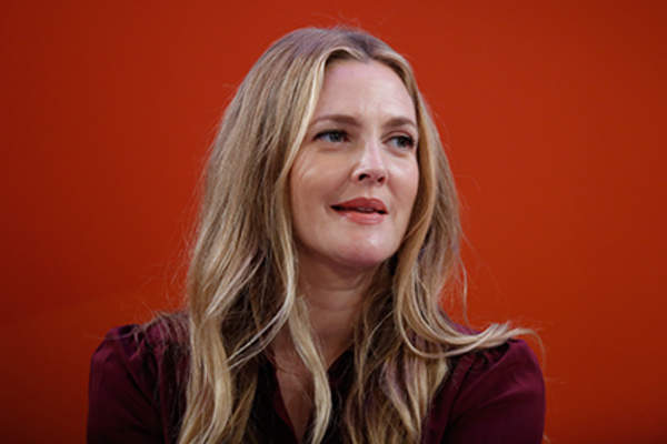 Drew Barrymore speaks onstage during the Building a Brand in a Mobile-First World panel on the Times Center Stage during 2016 Advertising Week New York.