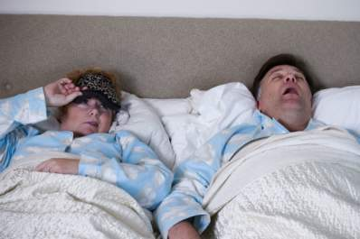 wife awaken by sleep apnea snoring