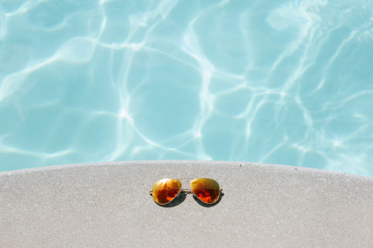 sunglasses poolside