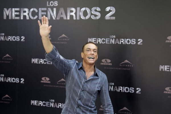 Actor Jean-Claude Van Damme attends 'The Expendables 2' ('Los Mercenarios 2') photocall at Ritz hotel in Madrid, Spain.