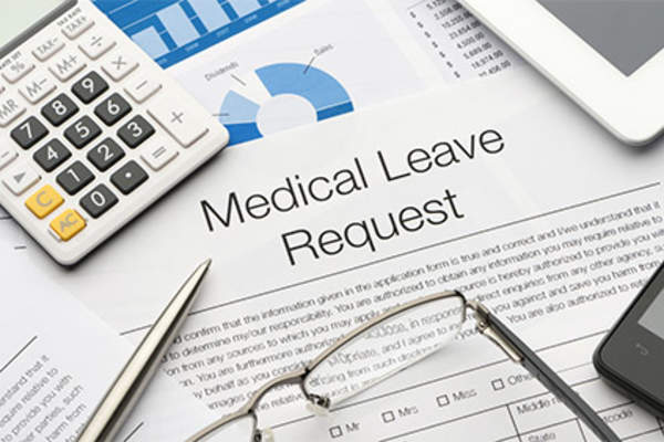 Medical leave request form.