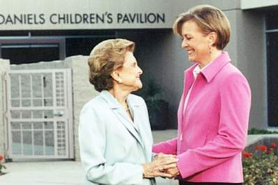 Susan Ford Bales and Mom Betty Ford.