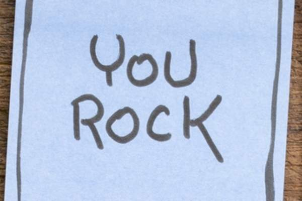 "Note saying ""You Rock"""