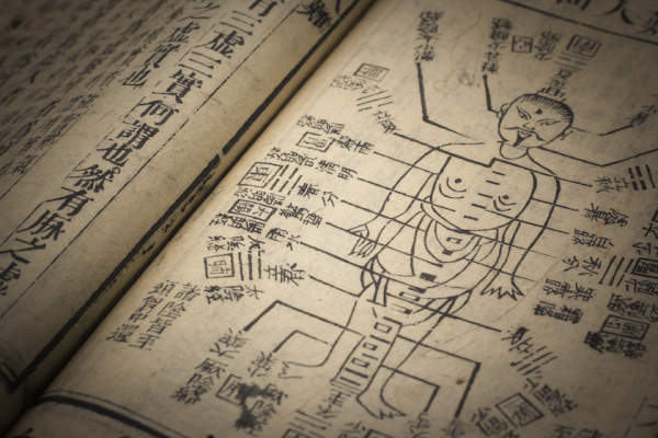 Chinese traditional medicine, acupuncture diagram.