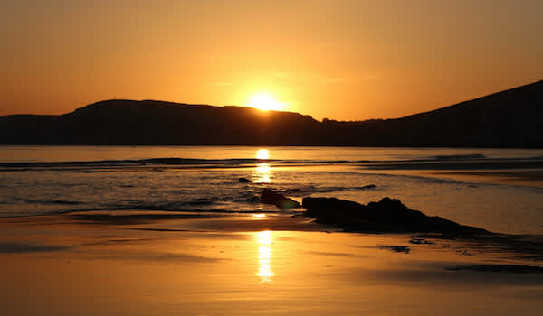 Beautiful golden sunset, just concentrating on life can help avoid concentrating on your disease.