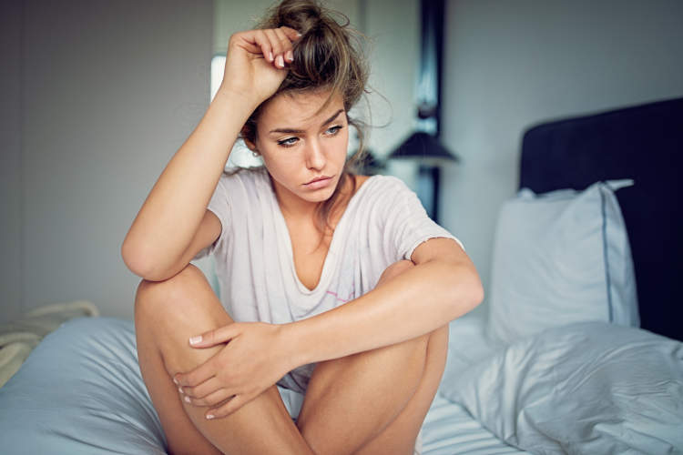 Woman frustrated with complications of her polycystic ovary syndrome.