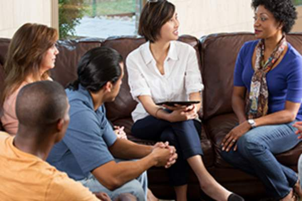 People at caregiver support group image.