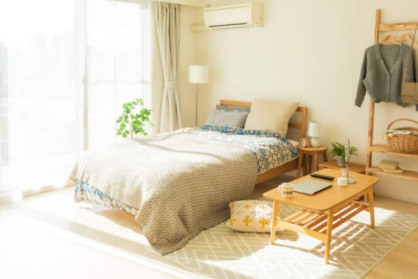 bedroom with air conditioner