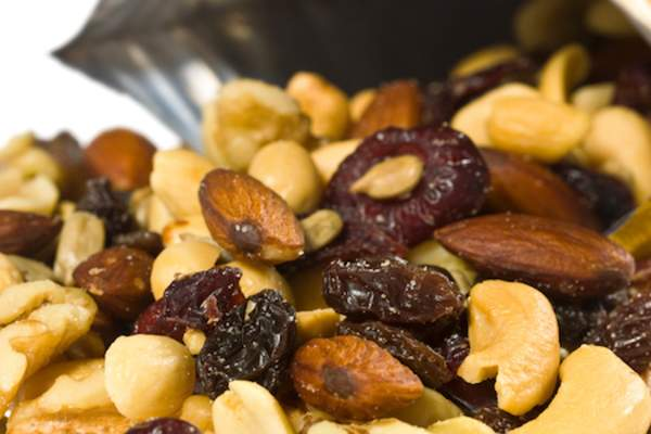 Trail mix fruit and nut.