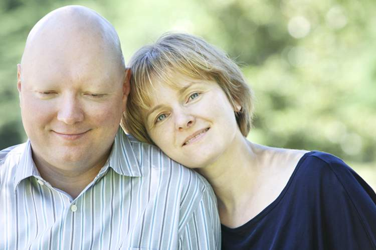 Man with leukemia and his wife.