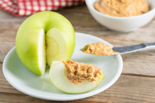 Apple and peanut butter.