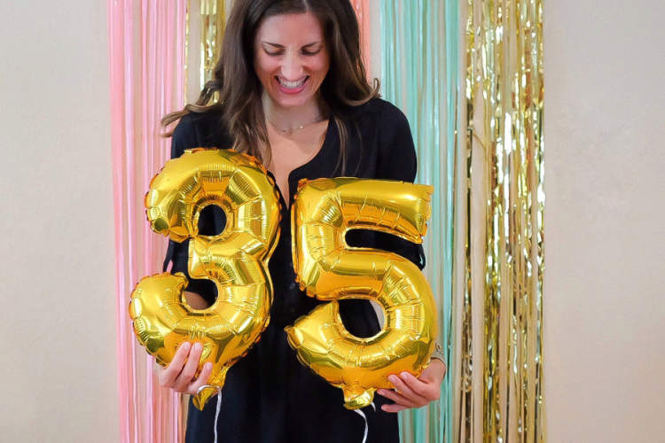 Sabrina Skiles on her 35th birthday