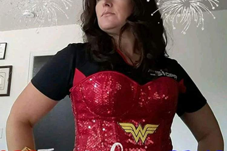 Jamie Robinson dressed as Wonder Woman.