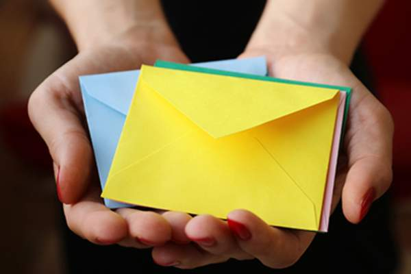 Colorful envelopes.