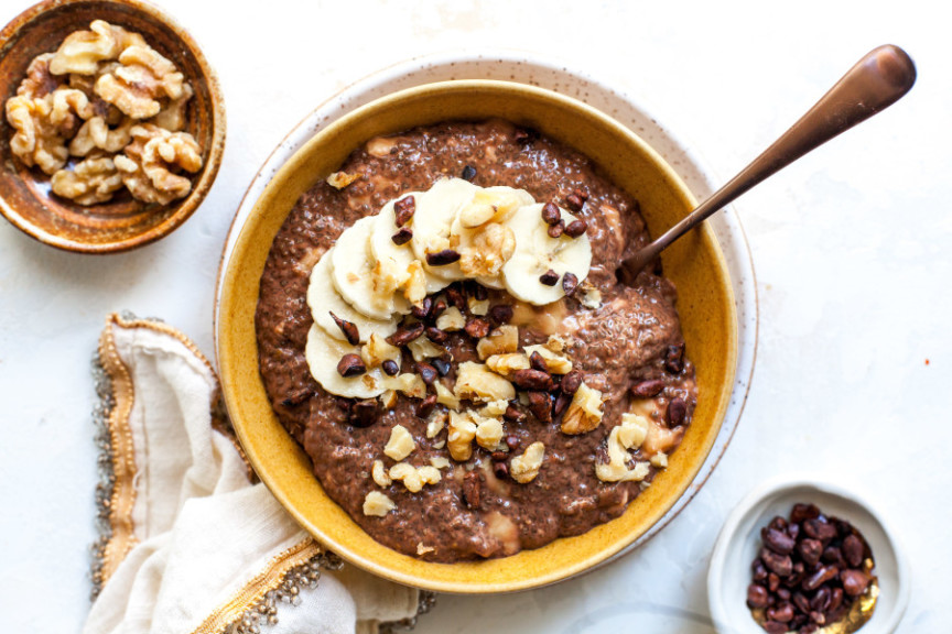 Chunky Monkey Chia-Seed Pudding