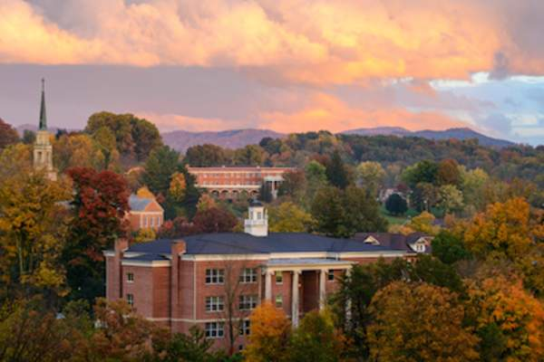 Liberal arts college in autumn.