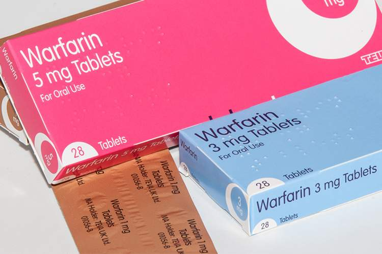 Warfarin blood thinner.