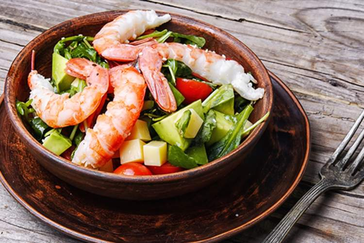 Shrimp avocado salad.