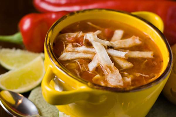 Mexican tortilla soup.
