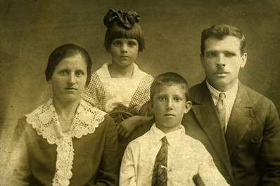 Old time family photo.