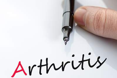 Arthritis written on a sheet of paper.