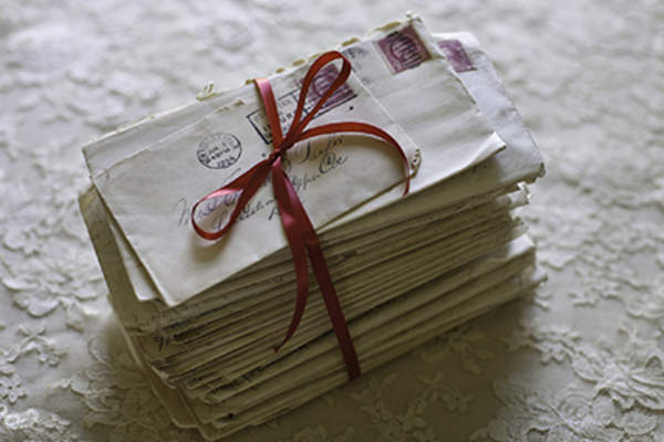 Stack of handwritten letters.