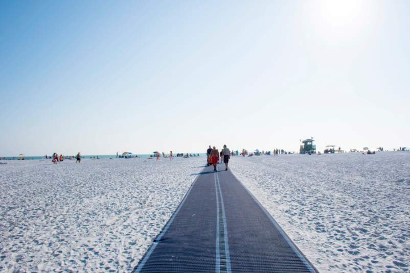 The Mobi mat on Siesta Beach