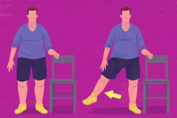 Standing Leg Lift exercise illustration