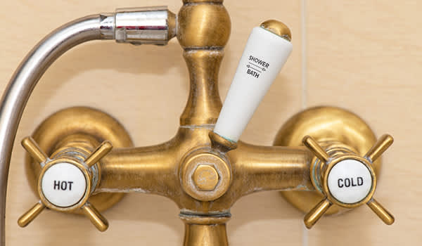 Cold water bath faucet image.