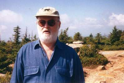 Bob Simons on Cadillac Mountain in Acadia National Park.