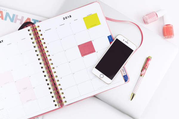 day planner with cell phone